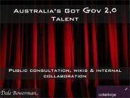 Web 2.0 in Government Collabforge Presentation - The PR Report