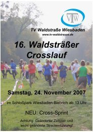 16. Waldsträßer Crosslauf - TV Waldstraße Wiesbaden