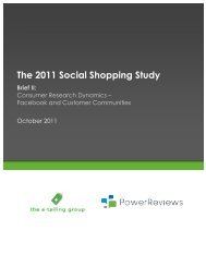 The 2011 Social Shopping Study - PowerReviews
