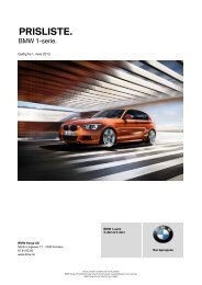 Last ned Gyldig prisliste for BMW 1-serie