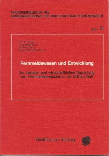 Fernmeldewesen und Entwicklung. - Detlef Schwefel