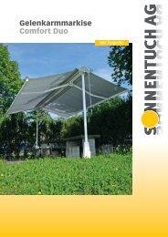 Gelenkarmmarkise Comfort Duo - Sonnentuch AG