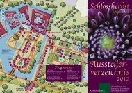 Aussteller- verzeichnis 2012 Schloss Dyck Schlossherbst