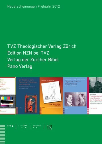 Neuerscheinungen Frühling 2012 - TVZ