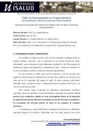 Taller de Entrenamiento en Terapia Intensiva - Universidad ISALUD
