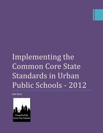 Implementing the Common Core State Standards in Urban Public ...