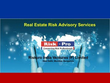 Real Estate Risk Advisory Services - Riskpro
