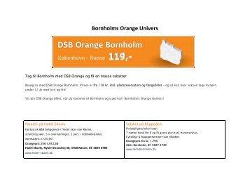 Tag til Bornholm med DSB Orange og få en ... - Destinationen.dk