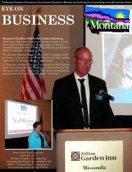 November 2012 EYE on Business - Montana Chamber of Commerce