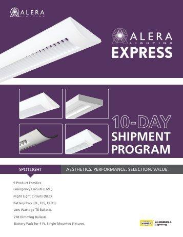 SHIPMENT PROGRAM - Alera Lighting
