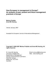 How European is management in Europe? An ... - Harzing.com
