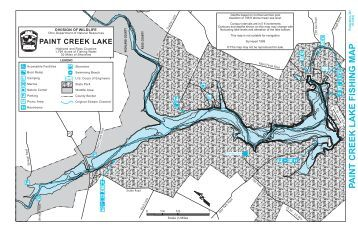 paint creek lake fishing map - Ohio Department of Natural Resources