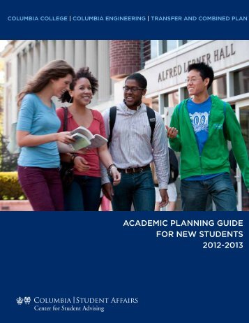 ACADEMIC PLANNING GUIDE FOR NEW STUDENTS 2012-2013