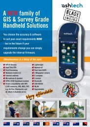 A NEW family of GIS & Survey Grade Handheld Solutions - Accurate ...