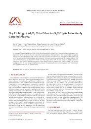 Dry Etching of Al2O3 Thin Films in O2/BCl3/Ar Inductively Coupled ...