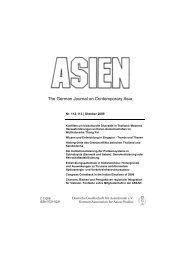 ASIEN, Nr. 112-113, Oktober 2009, S. 53-83 - Martin Wagener