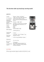 The Korinto table top bean2cup catering model - Fraser Web Design