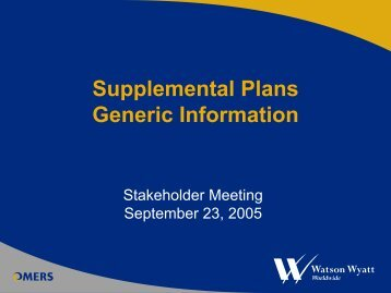 Stakeholder Presentation - September 2005 - omers