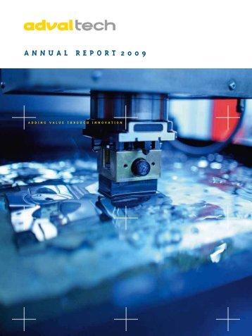 Annual report 2009 (pdf) - AdvalTech