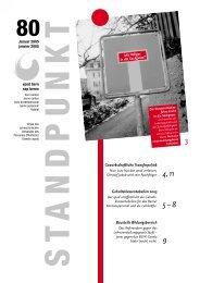 Standpunkt 80, Januar 2005 - vpod Bern