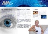 AiMS - the next generation TV Next Generation IPTV ... - TV Connect