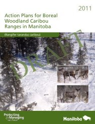 Action Plans for Boreal Woodland Caribou Ranges in Manitoba