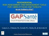 PSYCHOSOCIAL RISK ASSESSMENT AND MANAGEMENT ...