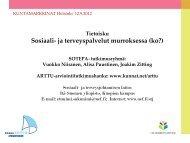Sosiaali- ja terveyspalvelut murroksessa - Kuntamarkkinat