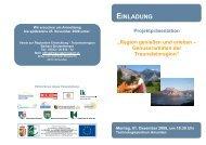 Projektpräsentation - Traunsteinregion