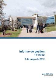 Informe de gestión 1T 2012 - Investor relations at Amadeus