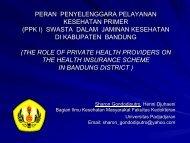 peran penyelenggara pelayanan kesehatan primer - Kebijakan ...