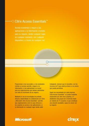 Citrix Access Essentials™ - Albora