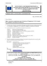 invitation a soumissionner pour la fourniture d ... - mediacongo.net