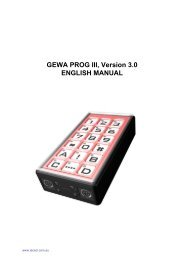 Gewa PROG 3 Manual - Technical Solutions Australia