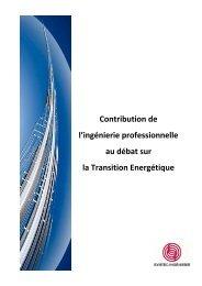 Contribution de l'ingénierie professionnelle au ... - Syntec ingenierie