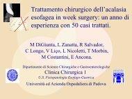 Trattamento chirurgico dell'acalasia esofagea in week surgery