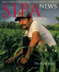 The Food Issue - SIPA - Columbia University