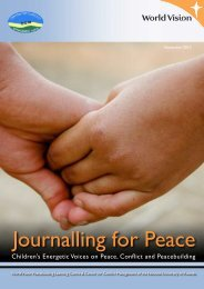 Journalling for Peace - World Vision Institut