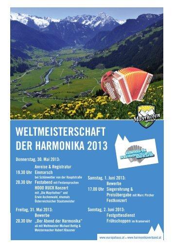 weltmeisterschaft der harmonika 2013 - Harmonikaverband