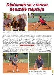 Diplomati sa v tenise neustále zlepšujú - STZ