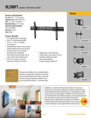 Series OL200FT product information sheet - CE Pro