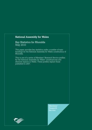 Key Statistics for Rhondda - National Assembly for Wales