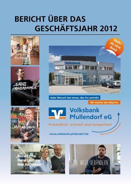 Geschäftsbericht 2012 - Volksbank Pfullendorf eG