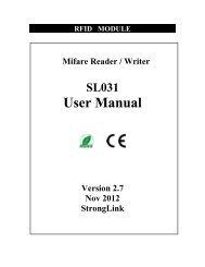 Mini Mifare Reader - SL031 User Manual - StrongLink