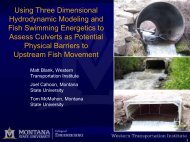 Using Three Dimensional Hydrodynamic Modeling and Fish ...