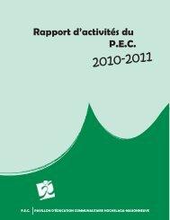 bilan d activite 07-08 - Pavillon d'éducation communitaire ...