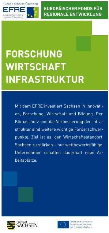 forschung wirtschaft infrastruktur - Strukturfonds in Sachsen ...