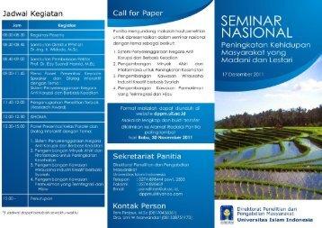 seminar nasional peningkatan kehidupan masyarakat yang madani