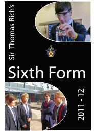 Sixth Form Prospectus [PDF] - Sir Thomas Rich's School