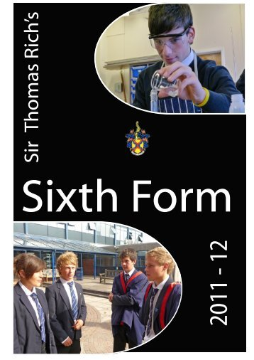 Sixth Form Prospectus [PDF] - Sir Thomas Rich's School